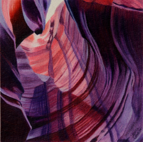 colored pencil drawing antelope canyon