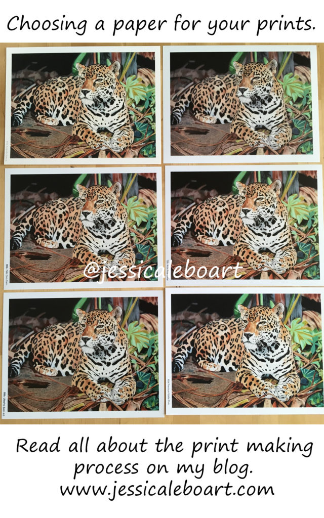 Choosing a paper for your artwork prints. Jessica Lebo Art